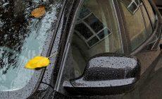 רכב נוסע בגשם